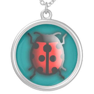 Lucky Ladybug Silver Necklace