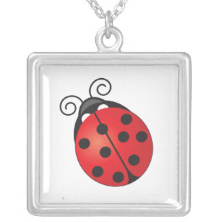 Lucky Ladybug Silver Plated Necklace
