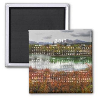 Lucky Lake; 2012 Calendar Square Magnet