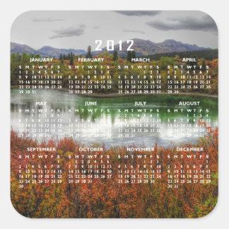Lucky Lake; 2012 Calendar Square Sticker