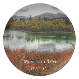 Lucky Lake; Customizable Dinner Plate