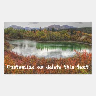 Lucky Lake; Customizable Rectangular Sticker