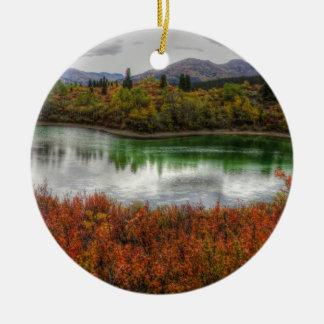 Lucky Lake Round Ceramic Decoration