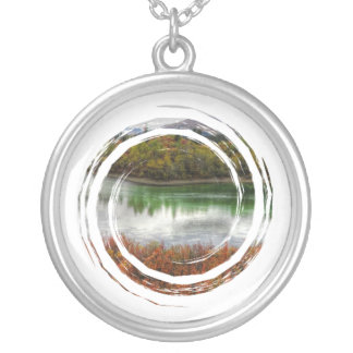 Lucky Lake Round Pendant Necklace