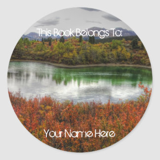 Lucky Lake Round Sticker