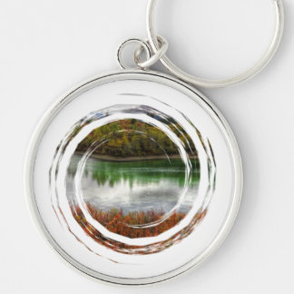 Lucky Lake Silver-Colored Round Key Ring