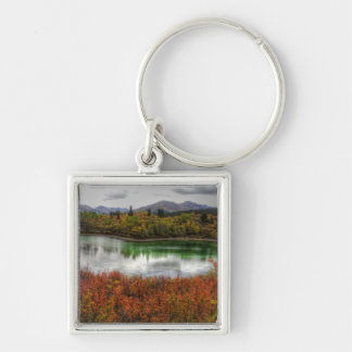 Lucky Lake Silver-Colored Square Key Ring
