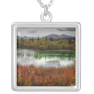 Lucky Lake Square Pendant Necklace