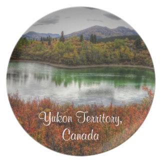 Lucky Lake; Yukon Territory Souvenir Dinner Plate