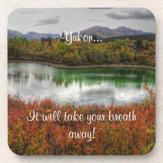 Lucky Lake; Yukon Territory Souvenir Drink Coasters