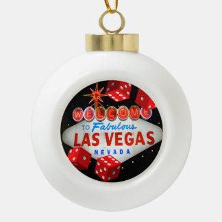 Lucky Las Vegas Ceramic Ball Ornament