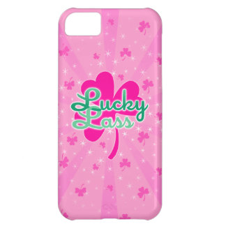 Lucky Lass - Pink Girly Shamrocks iPhone 5C Cover