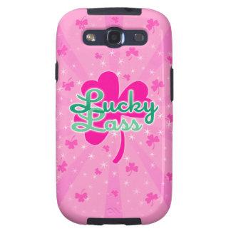 Lucky Lass - Pink Girly Shamrocks Galaxy SIII Cover