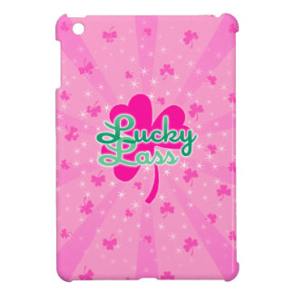 Lucky Lass - Pink Girly Shamrocks Case For The iPad Mini