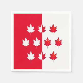 Lucky Leaves Canada Day Party Paper Napkins