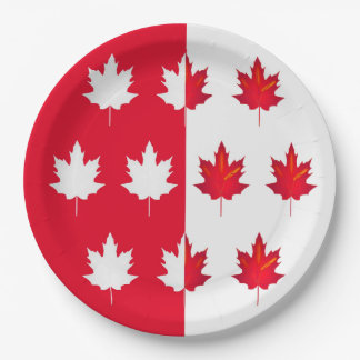 Lucky Leaves Canada Day Party Paper Plates