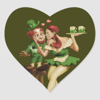 Lucky Leprechaun Heart Sticker