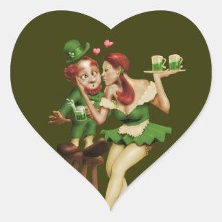 Lucky Leprechaun Heart Sticker