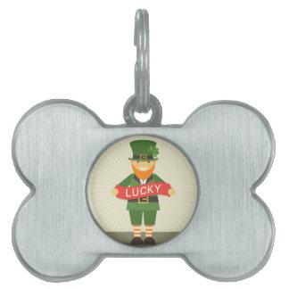 lucky leprechaun pet tag