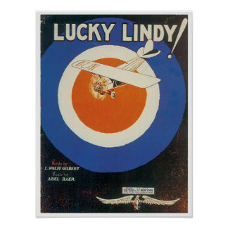 Lucky Lindy Poster