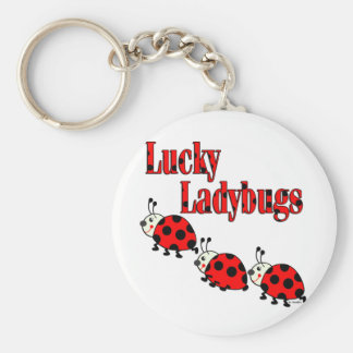Lucky Little Ladybugs Basic Round Button Key Ring
