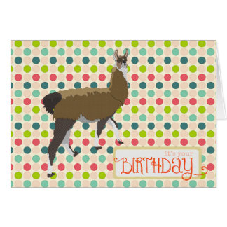 Lucky Llama Birthday  Card