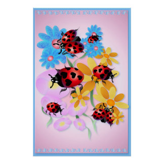Lucky-Love Ladybugs Posters