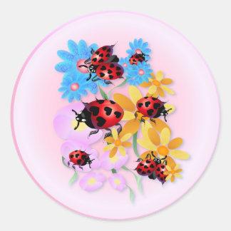 Lucky-Love Ladybugs Stickers