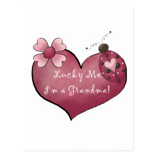 Lucky Me I m a Grandma Tshirts and Gifts Post Card