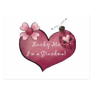 Lucky Me I'm a Grandma Tshirts and Gifts Postcard