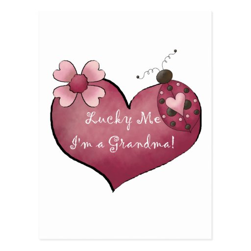 Lucky Me I'm a Grandma Tshirts and Gifts Post Card