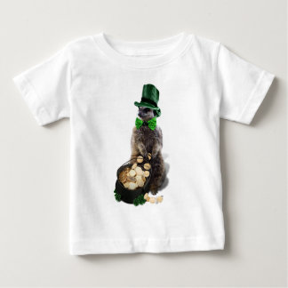 Lucky Meerkat with Pot Of Gold St. Patrick's Day Baby T-Shirt