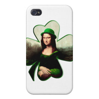 Lucky Mona Lisa Shamrock iPhone 4 Cases
