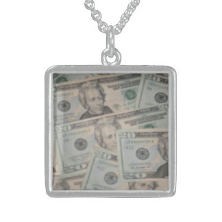 Lucky Money Charm Sterling Silver Necklace