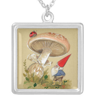Lucky Mushroom Gnome Necklace