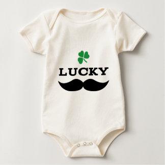 Lucky Mustache Baby Bodysuit