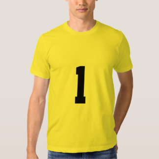 Lucky number 1 shirts