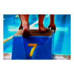 Lucky Number 7 Swimmer Poster
