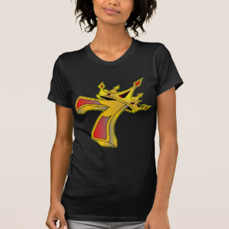 Lucky Number 7 with Crown Tattoo Tee Shirt