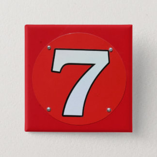 Lucky Number Seven 15 Cm Square Badge