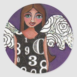 LUCKY NUMBERS ANGEL - a blessed sticker