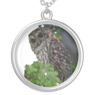 Lucky Owl Round Pendant Necklace
