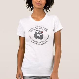 Lucky Paws Panda T-Shirt with Good Luck Symbol