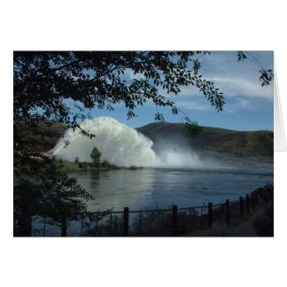 Lucky Peak Reservoir Rooster Tail Note Card