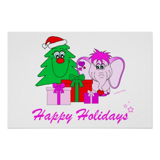 Lucky Pinkie Happy Holidays Poster