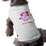 Lucky Pinkie Merry Christmas Doggie T-shirt