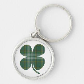 Lucky Plaid Shamrock Keychain