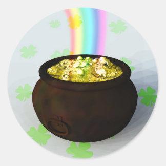 Lucky Pot of Gold Sticker