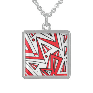 Lucky Quick-Witted Beneficial Inventive Square Pendant Necklace