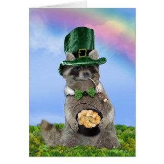 Lucky Raccoon card
